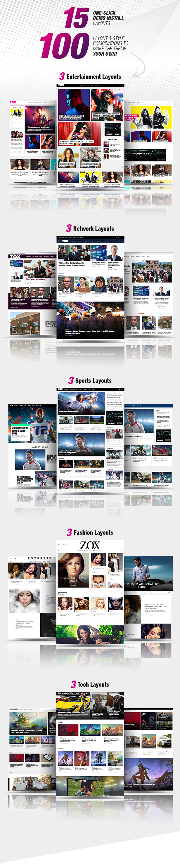 ZoxPress - All-In-One WordPress News Theme - 1